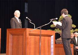 入学生宣誓の様子