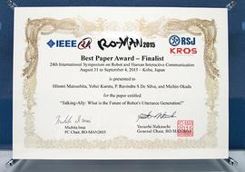 Best Paper Award-Finalist