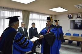 平成27年度大学院修了式・学位記授与式
