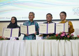 共同研究合意書署名式典