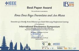IES 2016 Best Paper Award