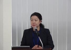 堀尾文部科学省国際企画室室長補佐によるご挨拶・ご講演