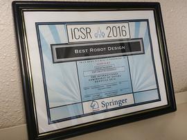 BEST ROBOT DESIGN Special Recognition for Creative Design