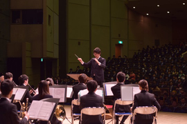 吹奏楽団による祝賀演奏