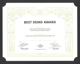 Augmented Human 2017 Best Demo Award