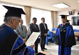平成29年度大学院学位記授与式