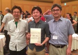 (左から) 鯉田孝和 テニュアトラック准教授、田村秀希さん、中内茂樹 情報・知能工学系教授
