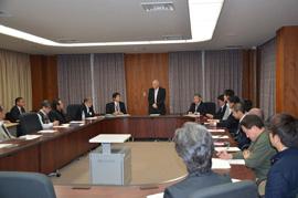 本学にて開催された平成26年度第1回スーパーグローバル大学創成事業推進本部会議