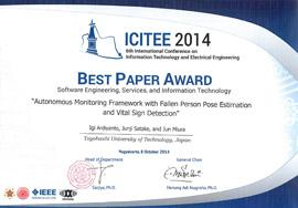 ICITEE 2014 Best Paper Award