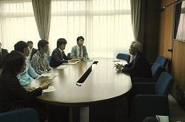 蛭田氏とプログラム履修生との懇談会